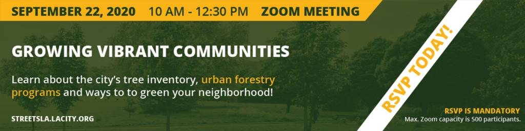 Urban forestry meetings