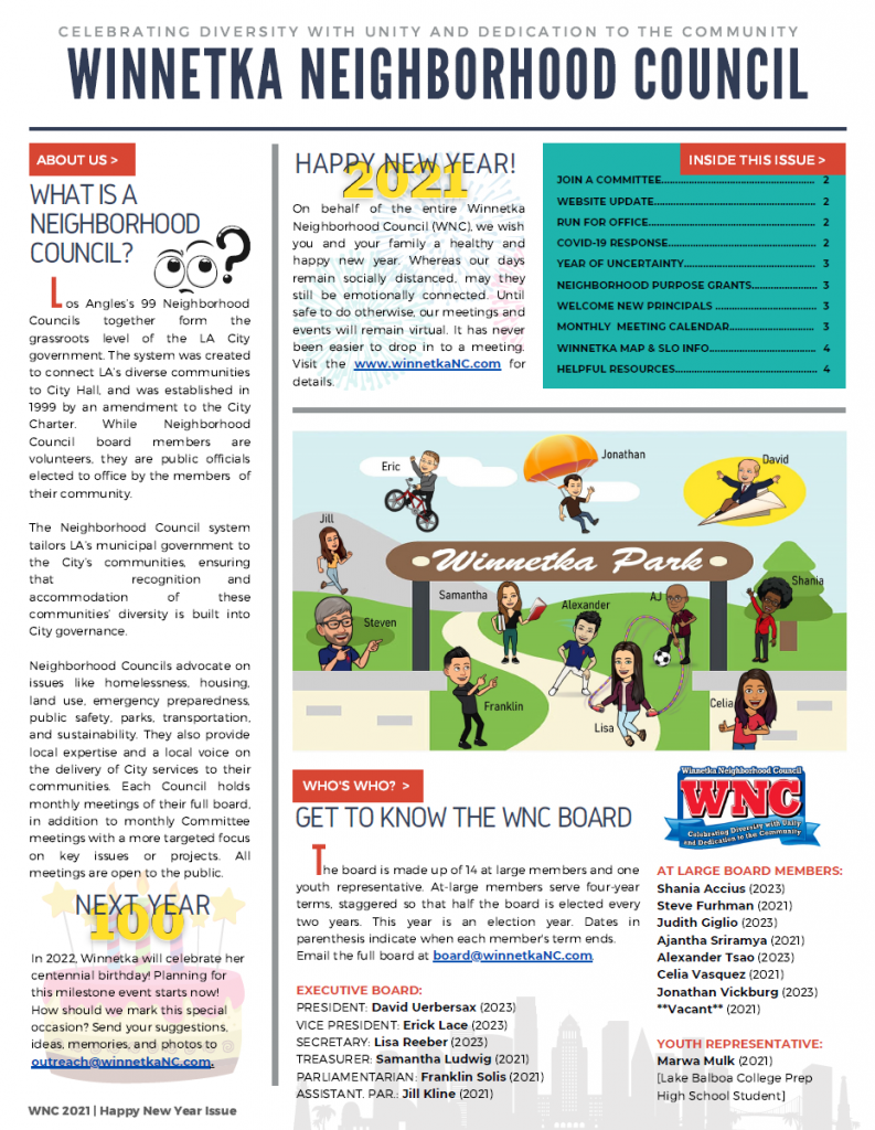Newsletter Page One