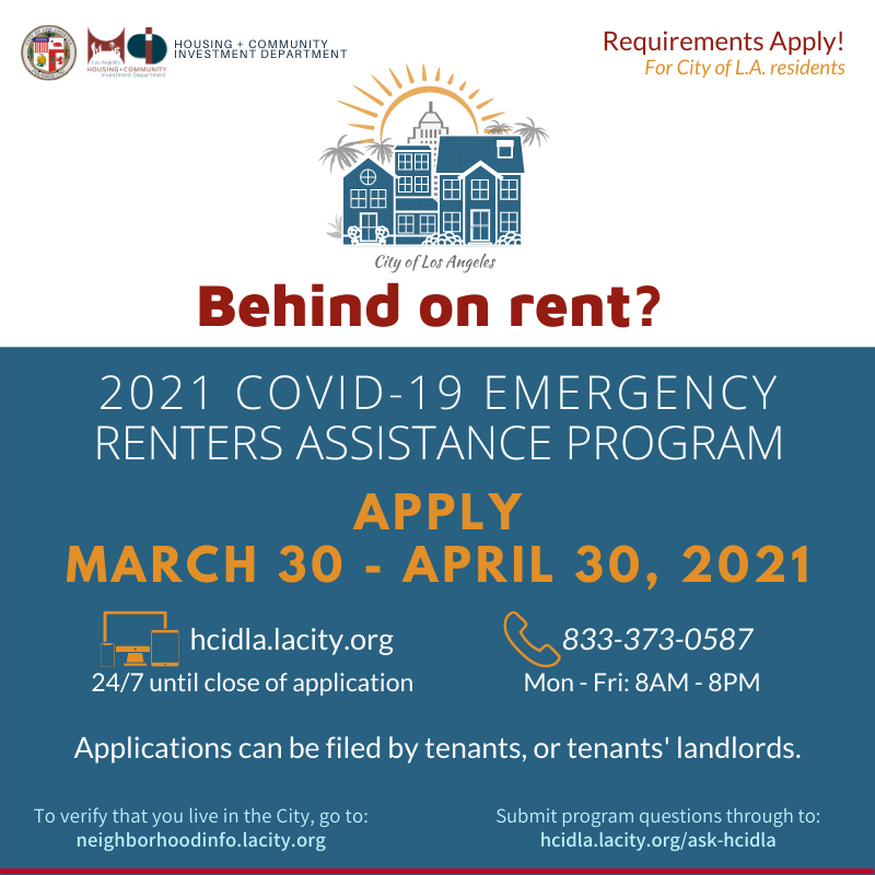 Rental Assistance Opens March 30