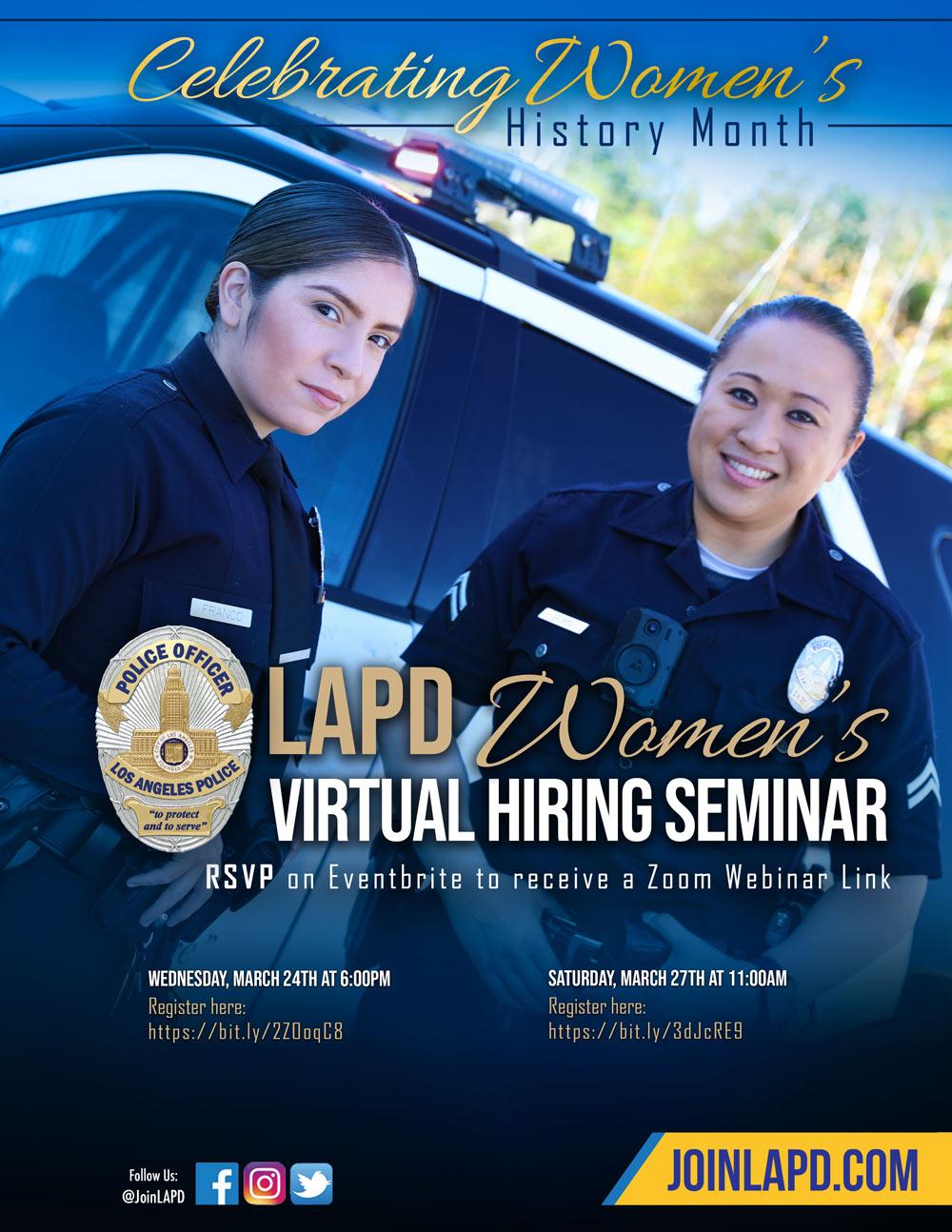 LAPD Virtual Hiring Seminar
