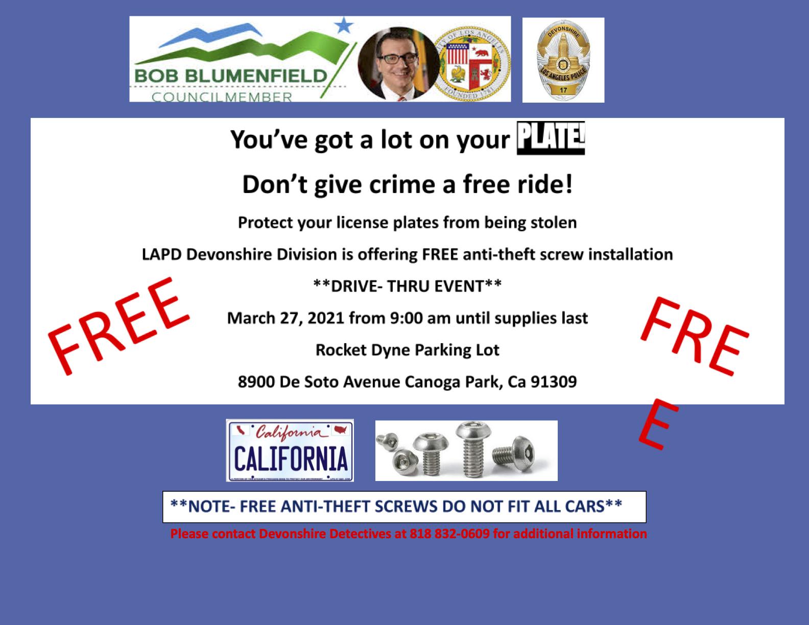 anti theft lock event