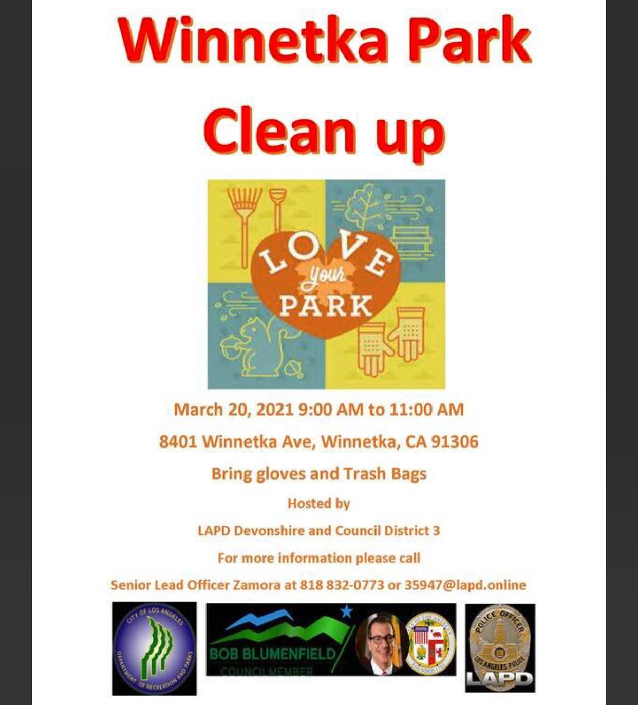 winnetka park clean up