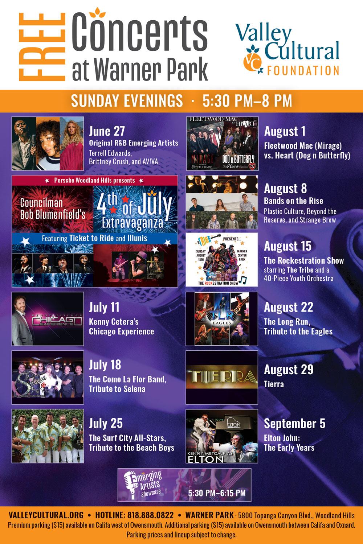 Concert schedule