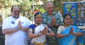 Councilman Zine and WNC Board Members participate in Indian Dance
