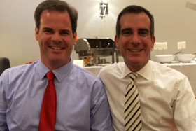 WNC President Eric Lewis dines with Mayor Garcetti