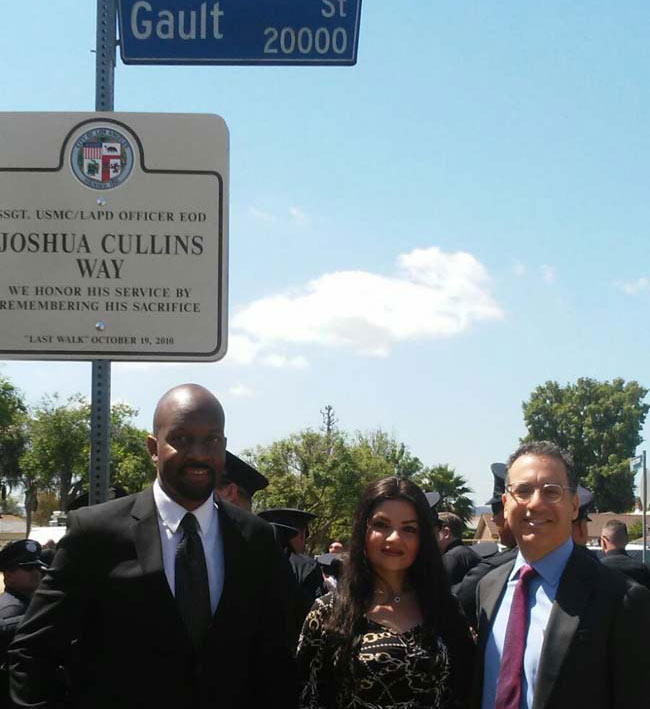 Joshua Cullins Way Ceremony Sign