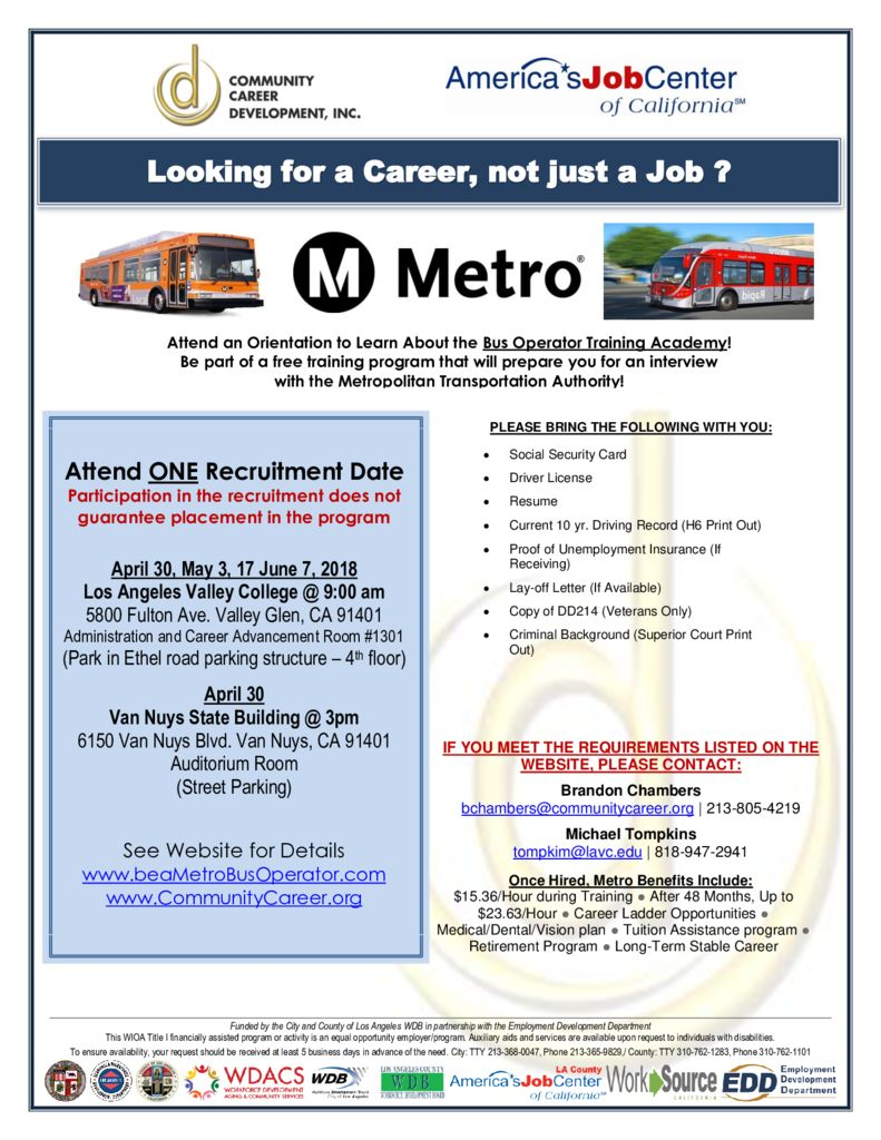 Bus Operator Opportunity